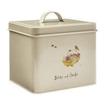 Robin and Trug Bulb and Seeds Tin