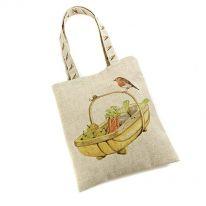 Robin on Trug Linen Mix Bag