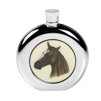 Round Horse head Hip Flask