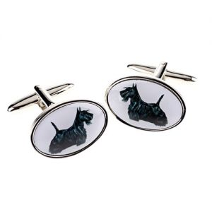 At Home in the Country - Scottie Cufflinks