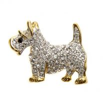 Scottie Dog Brooch