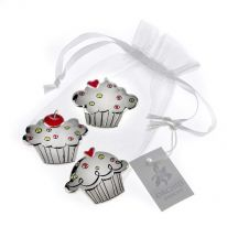 "Set of 3 ""Cupcake"" Charms"