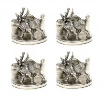 Set of 4 Stag Place card Holders