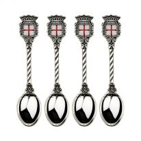 Set of 4  Tea Spoons with St. George flag