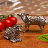 Sheep Salt and Pepper Pewter