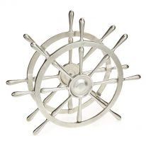 Ships Wheel Bottle Holder