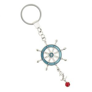 At Home in the Country - Ships Wheel Keyring