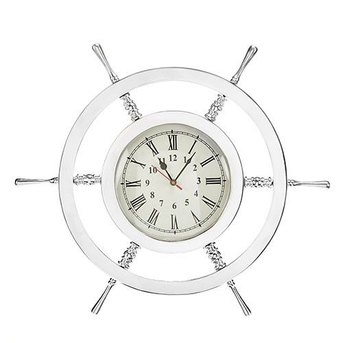 At Home In The Country   Ships Wheel Wall Clock