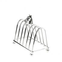 Silver Plate Toast Rack with Horse Head