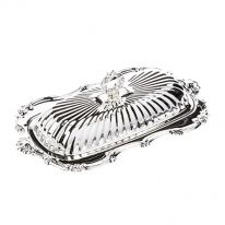 Silverplate Oblong Butter Dish