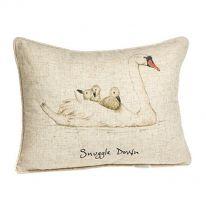 """Snuggle Down"" Linen Mix Cushion"