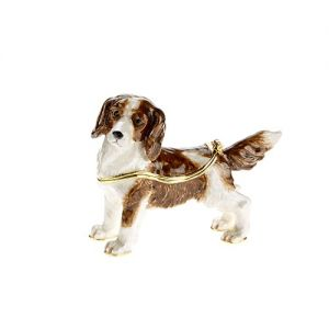 At Home in the Country - Springer Spaniel Enamel Box