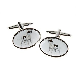 At Home in the Country - Staffie Cufflinks