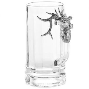 At Home in the Country - Stag Glass Tankard