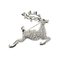 Stag Leaping Brooch
