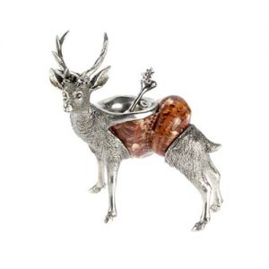 At Home in the Country - Stag Salt Dish with Spoon