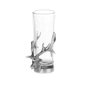 At Home in the Country - Stag's Head Shot Glass/Bud Vase