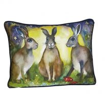Three Hares & Moon Cushion