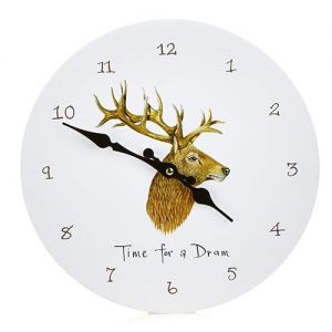 At Home in the Country - Time for a Dram Wall Clock