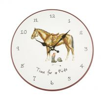 Time for a Ride Wall Clock