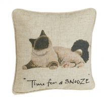 Time for a Snooze Linen Mix Cushion