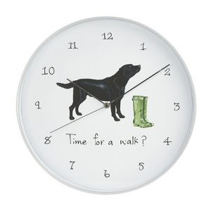 At Home in the Country - Time for a Walk? Wall Clock