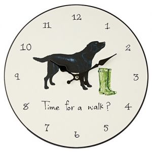 "At Home in the Country - ""Time for a Walk?"" Wall Clock"