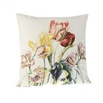 Tulips in Spring 100% Cotton Cushion