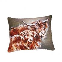 """""""Val and Una"""" 100 % Cotton Cushion"""