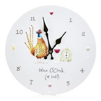 Wine O'Clock (at Last!) Wall Clock