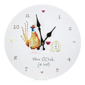At Home in the Country - Wine O'Clock (at Last!) Wall Clock