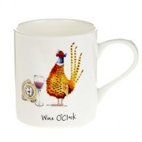 """Wine O'clock"" Fine Bone China Mug"