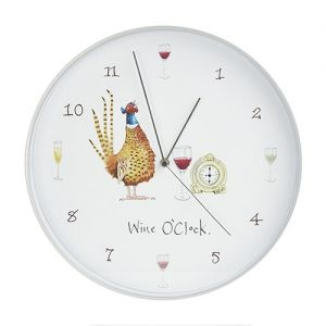 At Home in the Country - Wine O'Clock Wall Clock