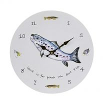 Work is for People who Don't Fish Wall Clock