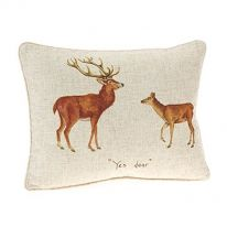 """Yes Dear"" Linen Mix Cushion"